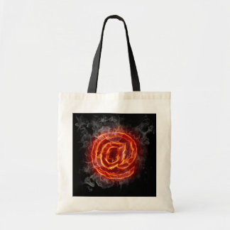 Atheist - burning A @ Budget Tote Bag