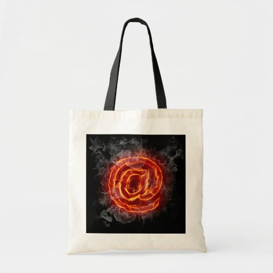 Atheist - burning A @ Tote Bag