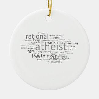 Atheist Cloud Christmas Ornament
