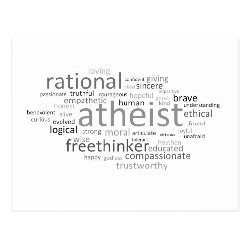 Atheist Cloud Postcard