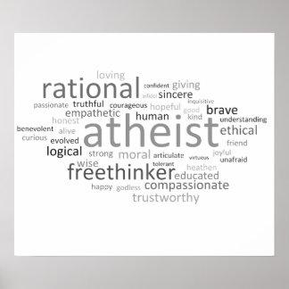 Atheist Cloud Poster