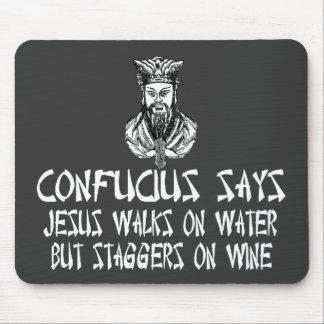 Atheist Confucius Mouse Pad