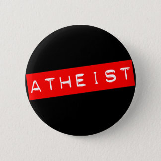 Atheist Dymo Label 6 Cm Round Badge