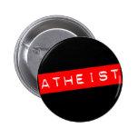 Atheist Dymo Label 6 Cm Round Badge
