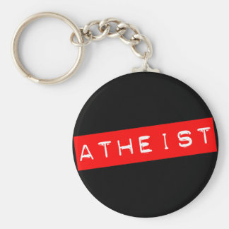 Atheist Dymo Label Key Ring
