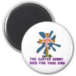 Atheist Easter Bunny Fridge Magnet