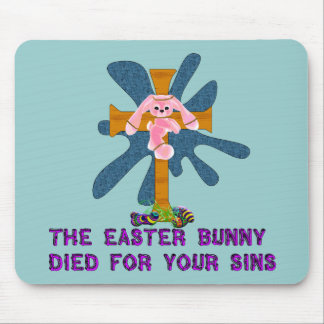 Atheist Easter Bunny Mouse Pad
