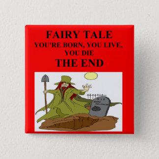 atheist fairy tale 15 cm square badge