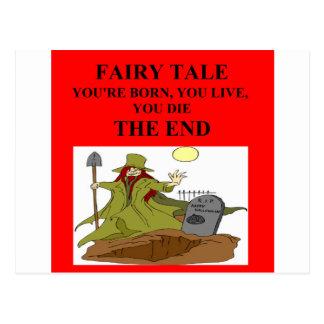 atheist fairy tale postcard
