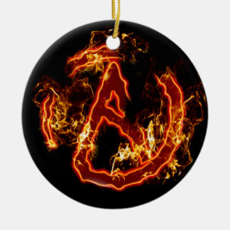 Atheist Fire Symbol Christmas Ornaments