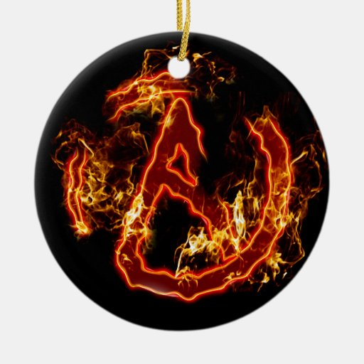 Atheist Fire Symbol Christmas Ornaments