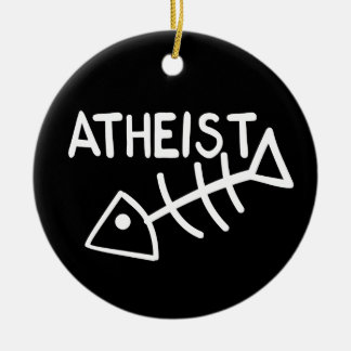 Atheist Fish Christmas Ornament