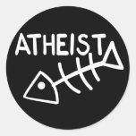 Atheist Fish Classic Round Sticker