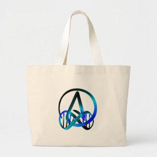 Atheist Forever Blue Jumbo Tote Bag