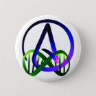 Atheist Forever Purple and Green 6 Cm Round Badge