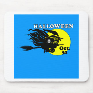 Atheist Halloween Witch Mouse Pad