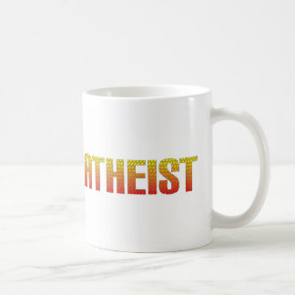 Atheist, hell wire fence style. basic white mug