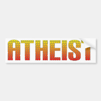 Atheist, hell wire fence style. bumper stickers