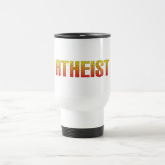 Atheist, hell wire fence style. stainless steel travel mug