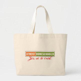 Atheist Homeschooler Jumbo Tote Bag