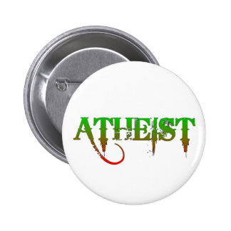Atheist ID goth style green/red 6 Cm Round Badge