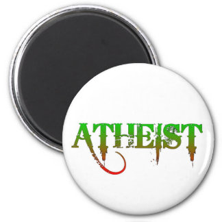 Atheist ID goth style green/red 6 Cm Round Magnet