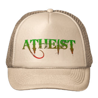 Atheist ID goth style green/red Hat