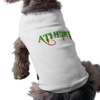 Atheist ID goth style green/red Sleeveless Dog Shirt