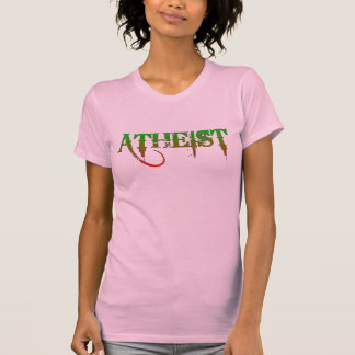 Atheist ID goth style green/red T-Shirt