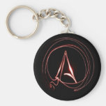 Atheist in Red Basic Round Button Key Ring
