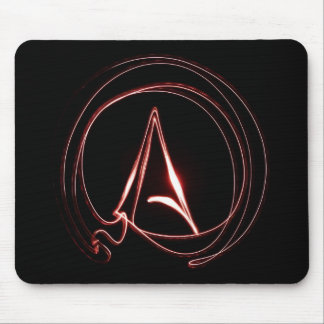 Atheist in Red Mouse Mat