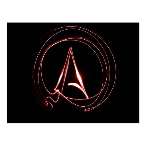 Atheist in Red Post Cards