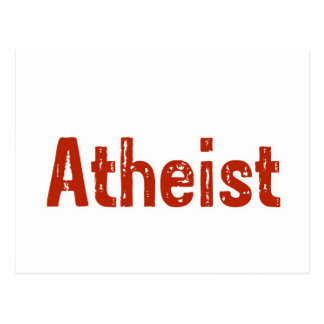 Atheist in Red Postcard