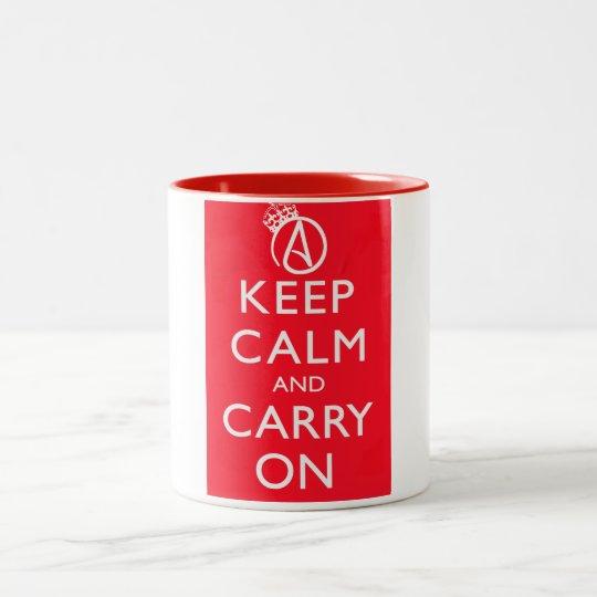 Atheist Keep Calm and Carry On Poster Mug