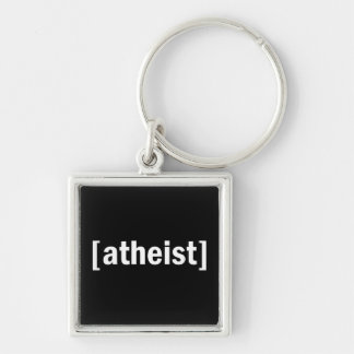 [atheist] Silver-Colored square key ring
