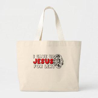 Atheist lent jumbo tote bag