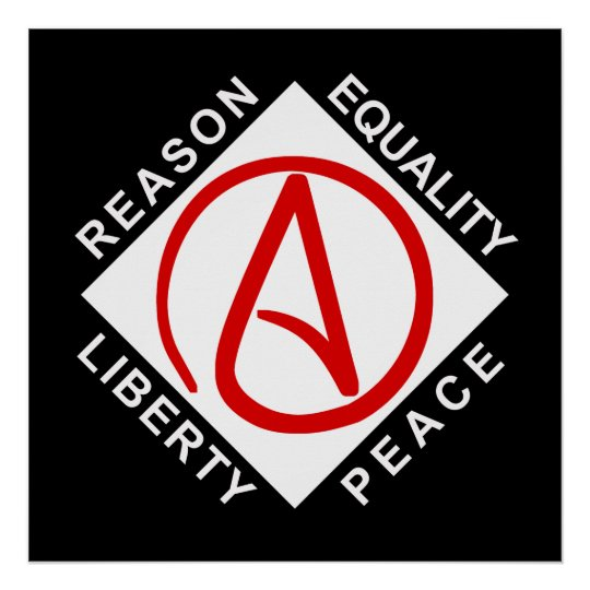 Atheist logo poster