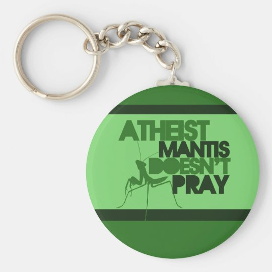 Atheist Mantis Basic Round Button Key Ring