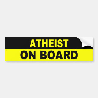 ATHEIST ON BOARD BUMPER STICKER