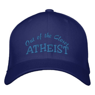 ATHEIST Personalize Name Embroidered Hat