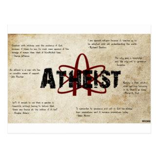 atheist postcard