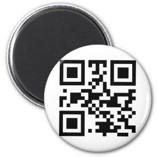 """""""ATHEIST"""" QR code 6 Cm Round Magnet"""
