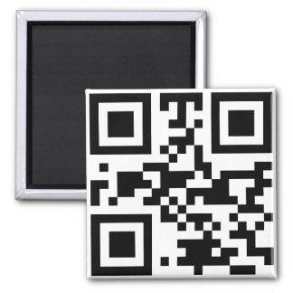 """""""ATHEIST"""" QR code Square Magnet"""