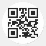 """""""ATHEIST"""" QR code Round Sticker"""