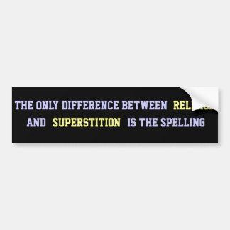 Atheist Quote Bumper Sticker