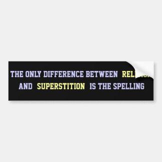 Atheist Quote Car Bumper Sticker