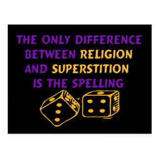 Atheist Quote Postcard