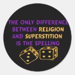 Atheist Quote Round Sticker
