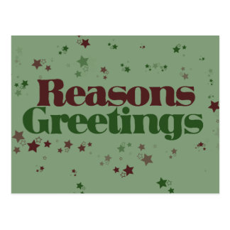 Atheist Reasons Greetings Postcard