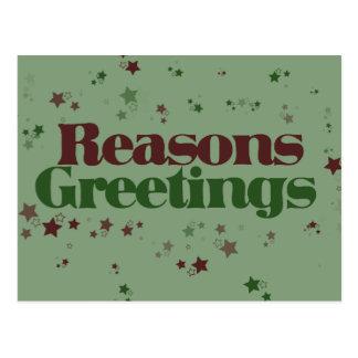 Atheist Reasons Greetings Postcards